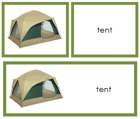 Camping Words & Picture Cards