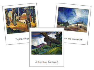 Emily Carr Art Cards - montessori art cards