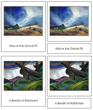 Emily Carr Art Cards - Montessori Print Shop