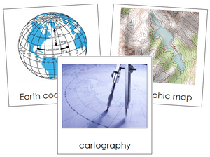 Cartography Nomenclature Cards - Montessori Print Shop