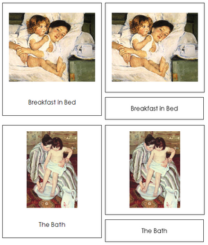 Mary Cassatt Art Cards - Montessori Print Shop
