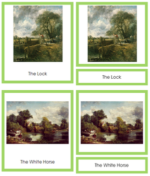 John Constable Art Cards (borders) - Montessori Print Shop