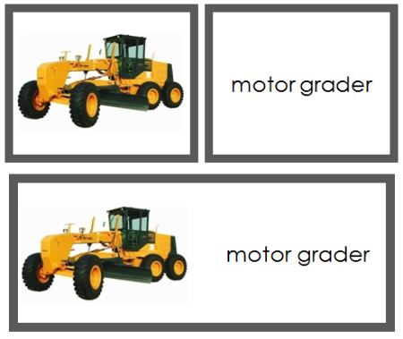 Construction Vehicle Words & Picture Cards