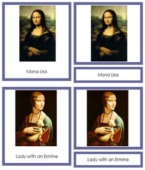 Leonardo Da Vinci Art Cards (borders) - Montessori Print Shop