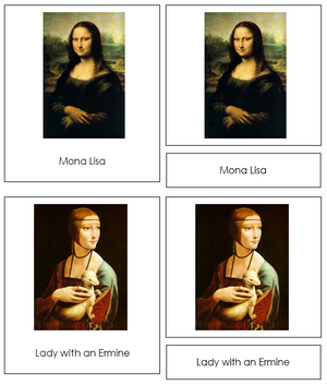 Leonardo Da Vinci Art Cards - Montessori Print Shop