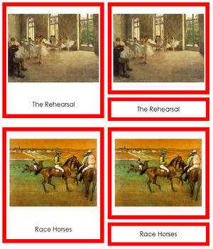 Edgar Degas Art Cards (borders) - Montessori Print Shop