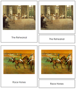 Edgar Degas Art Cards - Montessori Print Shop