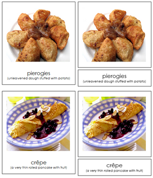 European Food Cards - Montessori Print Shop