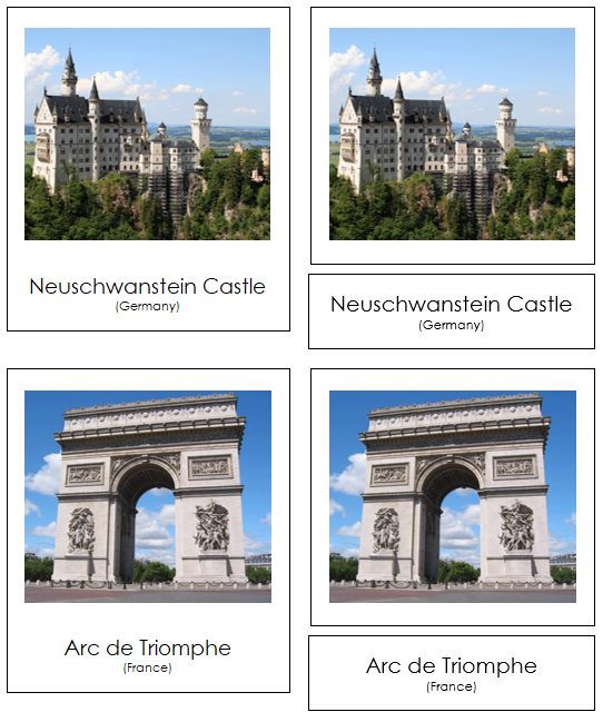 European Landmarks - Montessori Print Shop
