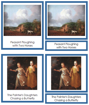Thomas Gainsborough Art Cards (borders) - Montessori Print Shop