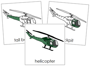 Helicopter Nomenclature Cards - Montessori Print Shop