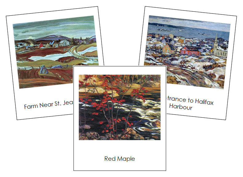 Alexander Young Jackson Art Cards - montessori art materials