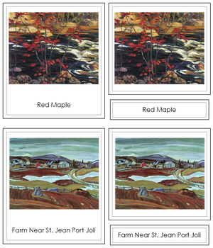 Alexander Young Jackson Art Cards (borders) - Montessori Print Shop
