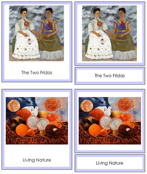 Frida Kahlo Art Cards (borders) - Montessori Print Shop