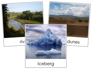 Aquatic & Land Feature Cards Set 1 - Montessori geographycards