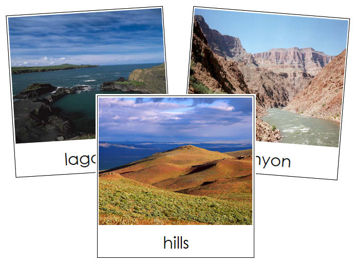 Aquatic & Land Feature Cards Set 2 - Montessori geography cards