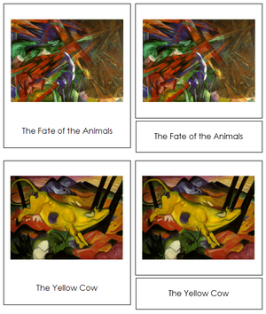 Franz Marc Art Cards - Montessori Print Shop