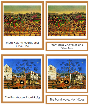 Joan Miro Art Cards (borders) - Montessori Print Shop
