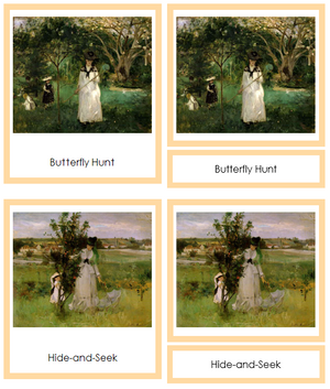 Berthe Morisot Art Cards (borders) - Montessori Print Shop