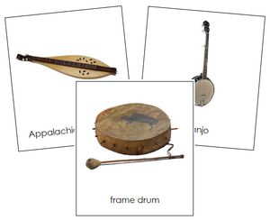 North American Musical Instruments - Montessori Print Shop