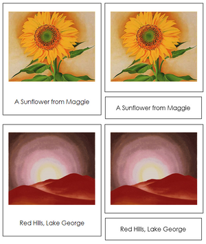 Georgia O'Keeffe Art Cards - Montessori Print Shop