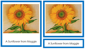 Georgia O'Keeffe Art Cards - montessori art materials