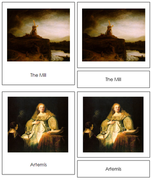 Rembrandt Art Cards - Montessori Print Shop