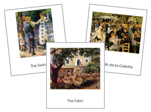 Pierre-Auguste Renoir Art Cards - montessori art materials