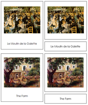 Pierre-Auguste Renoir Art Cards - Montessori Print Shop