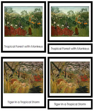 Henri Rousseau Art Cards (borders) - Montessori Print Shop