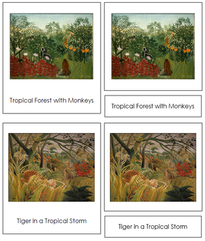 Henri Rousseau Art Cards - Montessori Print Shop