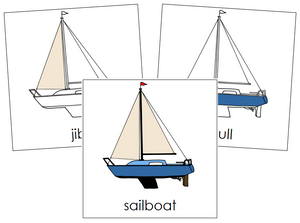 Sailboat Nomenclature Cards - Montessori Print Shop