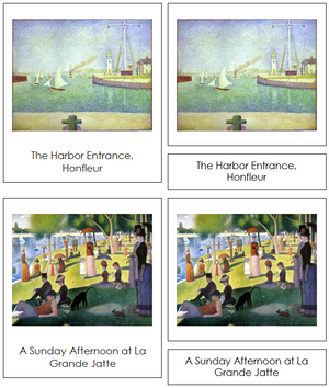 Georges Seurat Art Cards - Montessori Print Shop