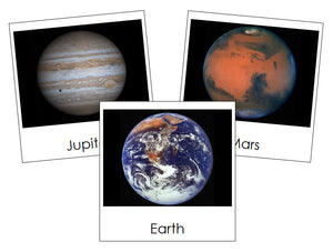 solar system nomenclature cards - Montessori Print Shop