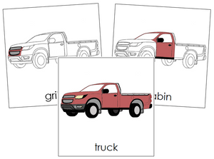 Truck Nomenclature Cards - Montessori Print Shop