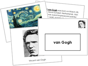 Vincent van Gogh Art Book - montessori art materials