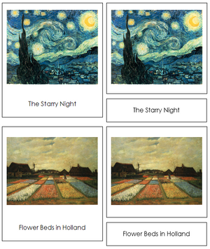 Vincent van Gogh Art Cards - Montessori Print Shop