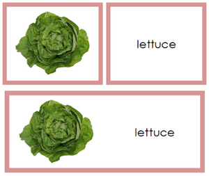 Vegetable Words & Picture Cards