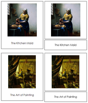 Johannes Vermeer Art Cards - Montessori Print Shop