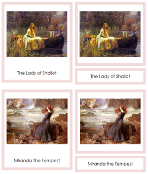 John William Waterhouse Art Cards (borders) - Montessori Print Shop