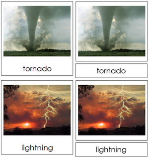 Weather Nomenclature 3-Part Cards - Montessori Print Shop