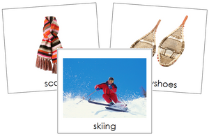 Winter Season Cards - Toddler Cards - Montessori Print Shop