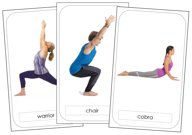 Yoga Poses - Free Montessori Print Shop Download