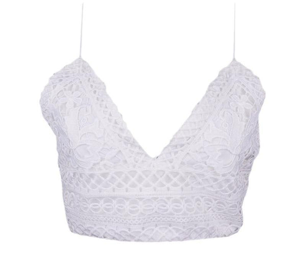 Lace Crochet Crop Camisole