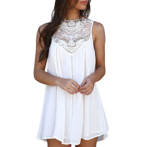 Mini Embroidered Detailed Dress