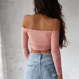 Slash Neck Crop Top