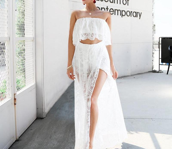 Lace Two Piece Jumpsuit