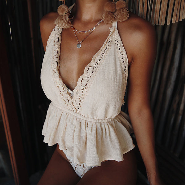 Crochet Halter Crop