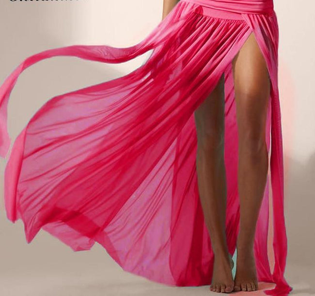 """Diem"" Gauze Beach Maxi Skirt"