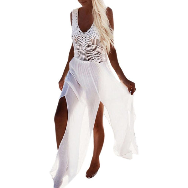 Sleeveless Bohemian Swimwear Cover-Up
